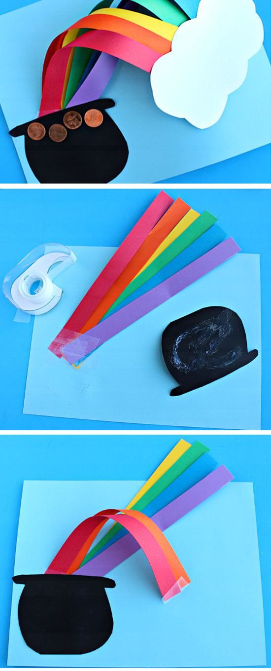 3D Over the Rainbow St. Patrick's Day Craft   DIY St Patricks Day Crafts for Kids to Make