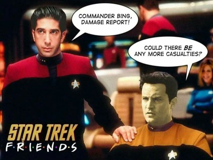 Star Trek - Friends. Commander Big. Damage Report . Could there BE any more casualties.