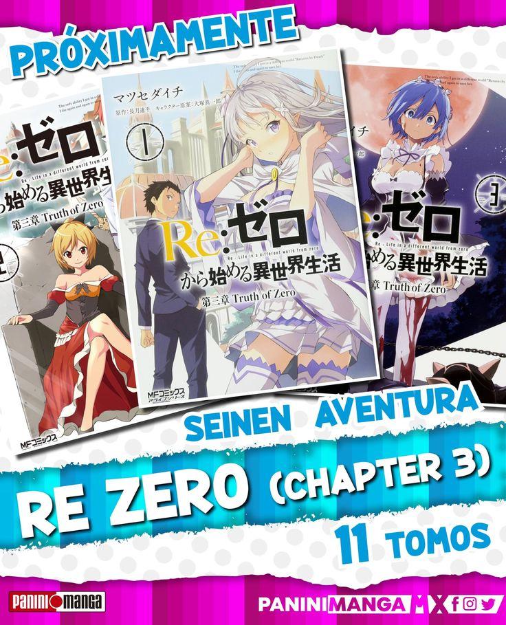 """El manga """"ReZero"""" llegará a México gracias a Panini en"""