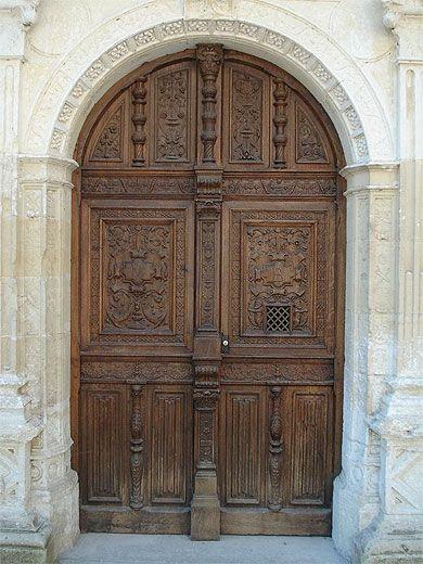 Une porte du château Azay le rideau