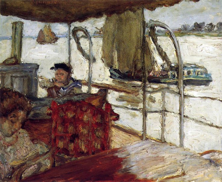 The Yacht by Pierre Bonnard