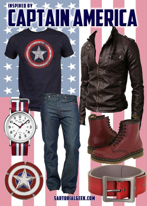 Outfit inspired by Captain America (Marvel)
