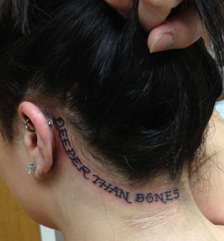 Deeper than bones third eye blind lyric tattoo on my for Head tattoo hairline