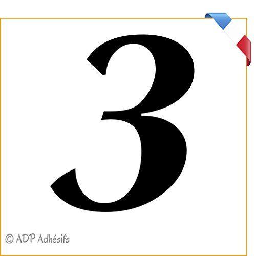 «3» numéro de maison 10 cm autocollant Vinyle Décalque numéro de maison boîte aux lettres poubelle Autocollant Sticker /Film PVC de haute…