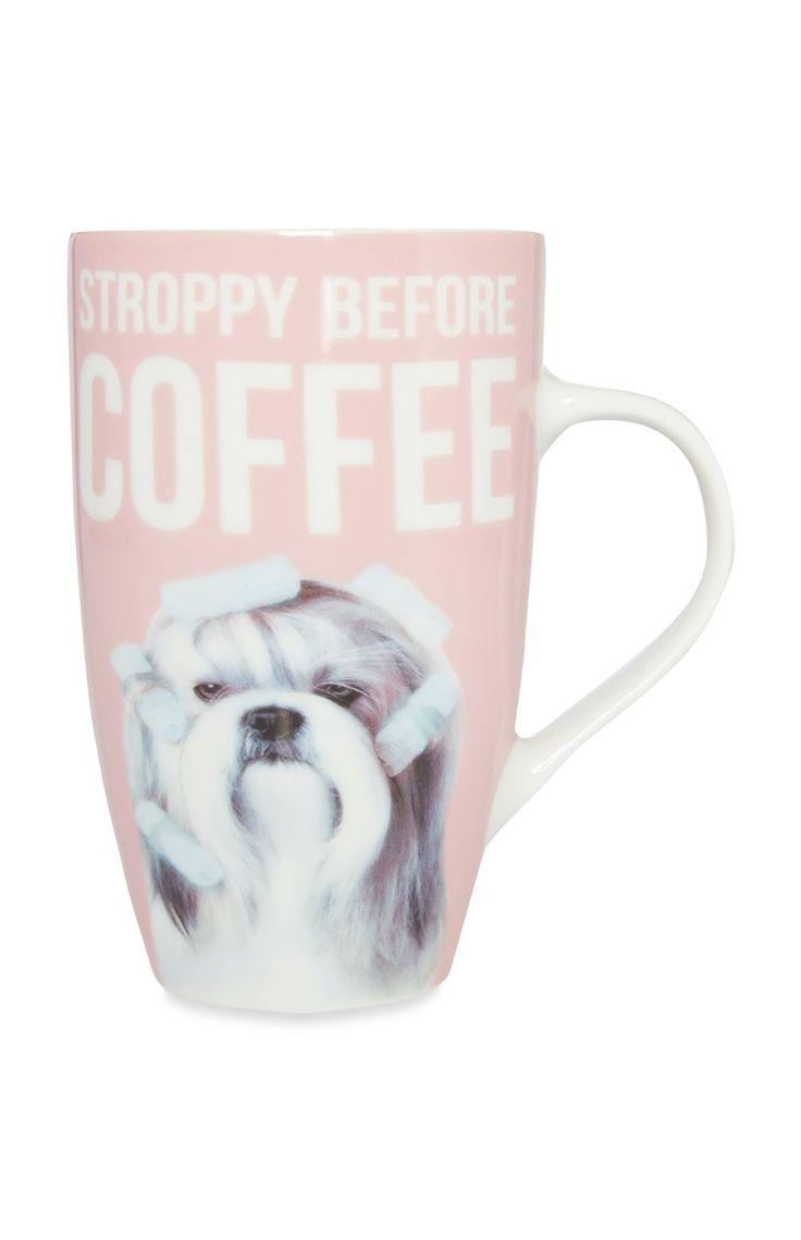 Primark - Pink Stroppy Before Coffee Mug
