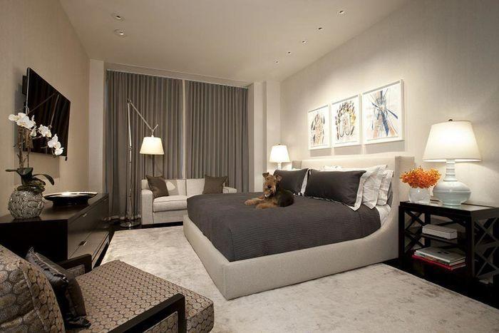 Серые спальни в современном стиле – Вдохновение