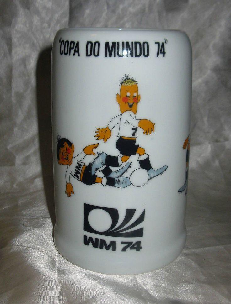 WM 74 GERMANY WORLD CUP 1974 Beer Mug COPA DO MUNDO 74 BRASIL MUNDIAL 74 NR  | eBay