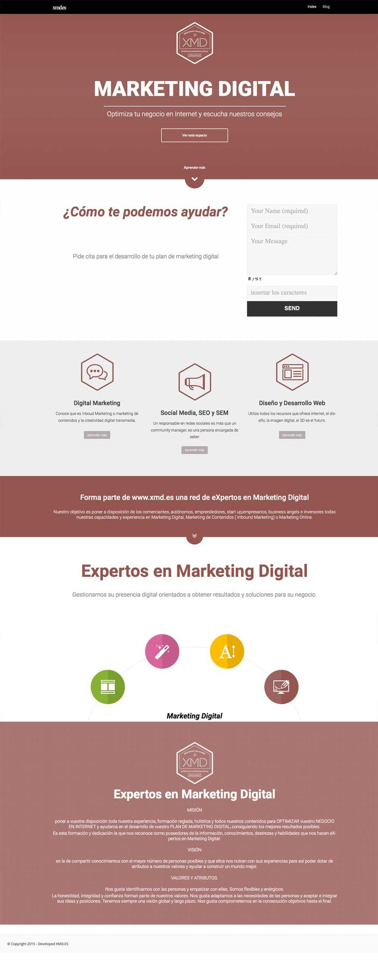 Minimal website design marbella xmd
