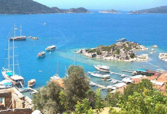 View from Simena castle Turkey