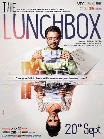 """The Lunchbox Movie Poster 2013/ Sometimes the wrong train will get you to the right station. - Quote from """"The Lunchbox"""" movie"""