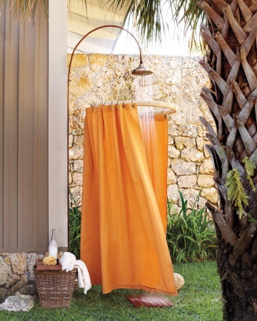 Nice Shower Curtain It Only Looks Like An Amenity At A Luxury Spa: This Outdoor  Shower  Outdoor Shower Curtain