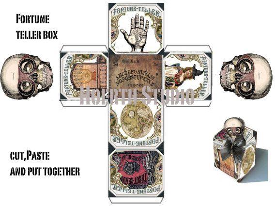 halloween Steampunk Gothic Fortune Teller gift Box