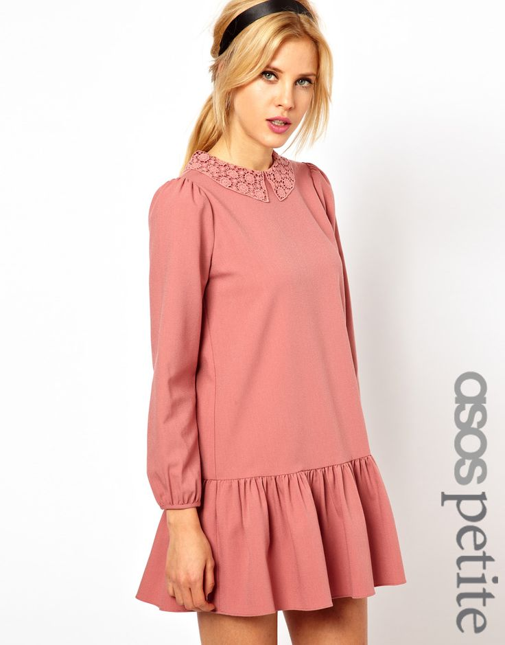 petite mini dress with drop waist | $25.31
