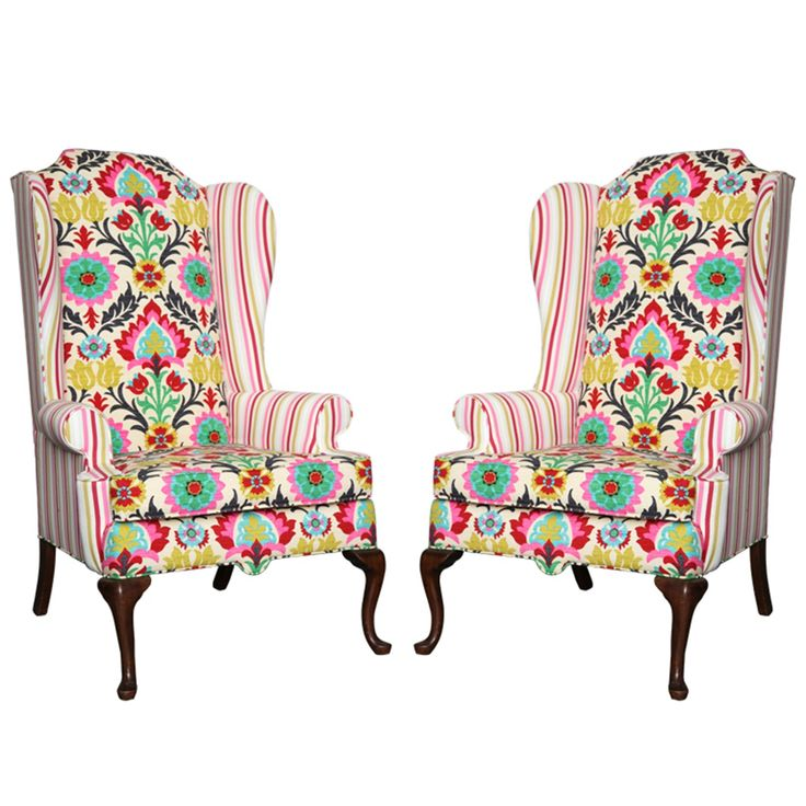 View this item and discover similar wingback chairs for sale at - A set of  two American Drexel Queen Anne Vintage Wingback Chair c. - 100 Best Furniture//Wing Back Chairs Images On Pinterest Armchairs