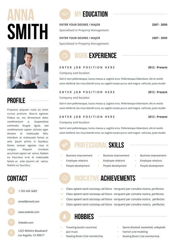 #Resume #Template no.3 + Cover letter + Reference page / Free…
