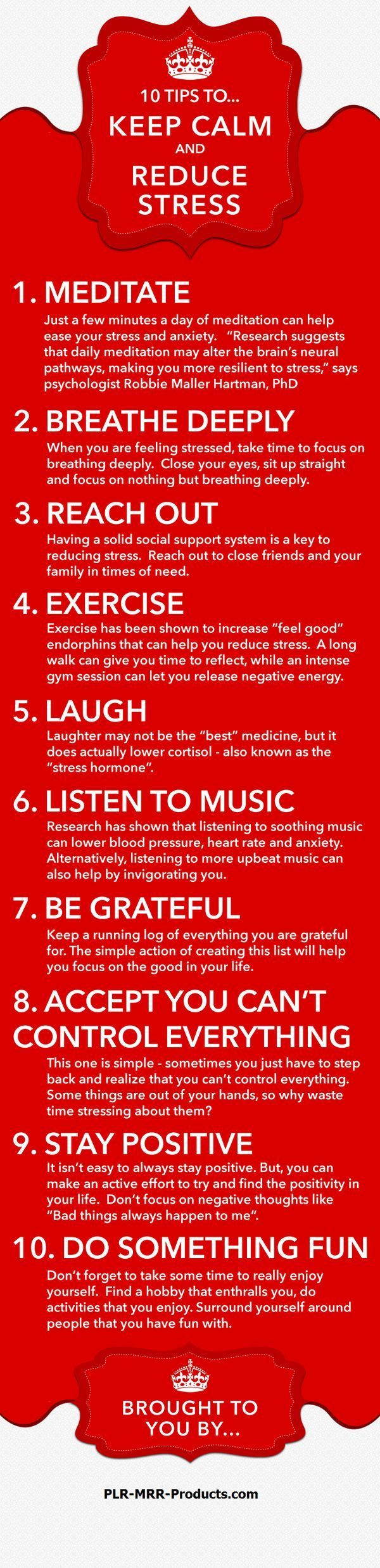Tips for staying calm.
