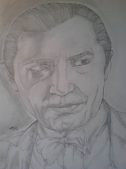 Bela Lugosi pencil portrait.  8.5'x11' unframed.  Price: $30 shipping covered in cost.