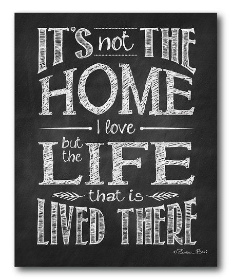 'The Home I Love' Wrapped Canvas