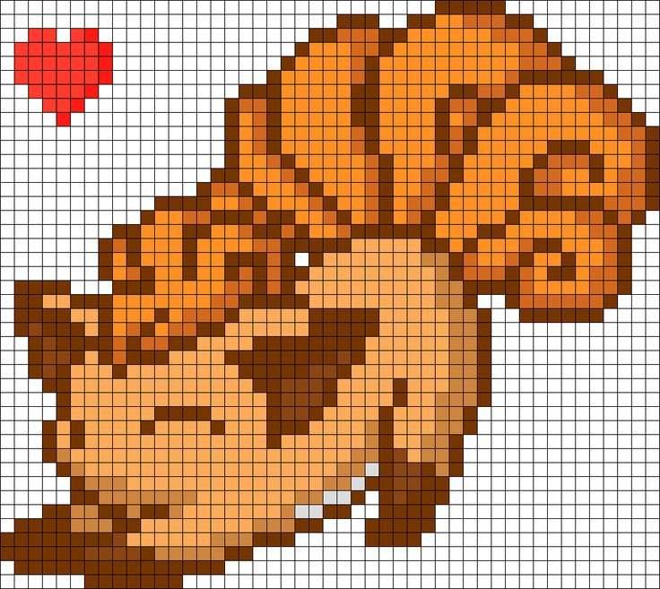Cutie Vulpix Perler Bead Pattern / Bead Sprite