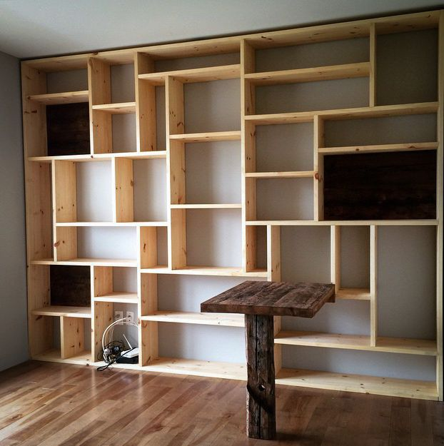 les 25 meilleures id es de la cat gorie biblioth que murale sur pinterest tag res sur mesure. Black Bedroom Furniture Sets. Home Design Ideas