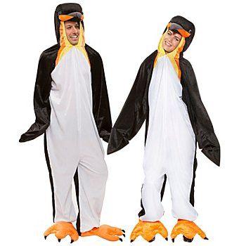 buttinette Pinguin Kostüm für SIEund IHN, aus weichem Kurzhaarflausch, angenähte Kapuze mit Pinguinkopf, vorn mit Reißverschluss, inkl. Watschelfüßen mit Klettverschluss. Material: 100 % Polyester.Größe 1,60 - 1,75 entspricht einer Damengröße 44/46 und einer Herrengröße 52/54Jetzt wird´s frostig! Rutschen Sie auf dem Bauch den Gletscher hinunter, fange...