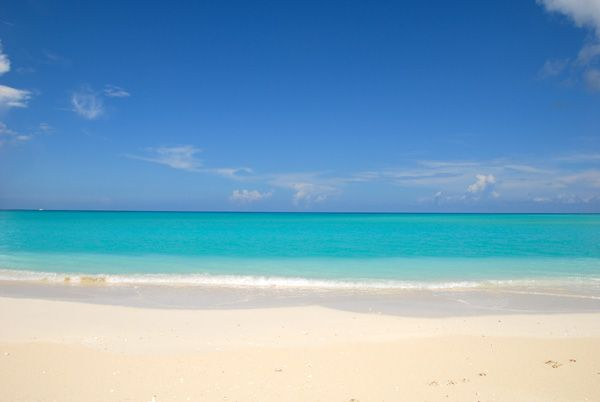 A photograph of Grace Bay Beach, Providenciales (Provo), Turks and Caicos Islands, British West Indies >> Cannot wait to step on this beach, so pretty!