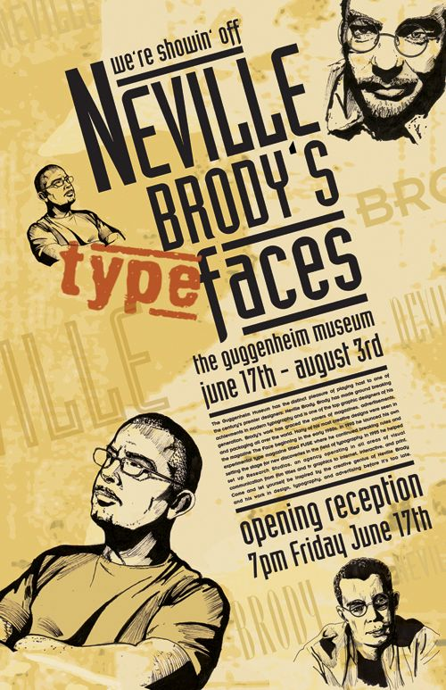 Neville Brody's Type Faces Poster