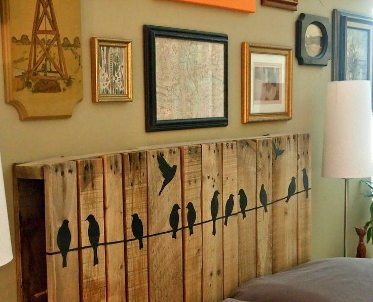 Décor de tête de lit, Tête de lit et Bricolage de bois de tête ~ Les Plus Beaux Lits En Bois