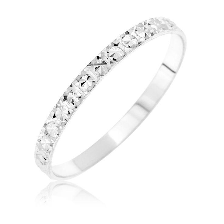 bague z wr7115 mixte or blanc 9 carats 053 gr - Wedding Planner Mariage Mixte