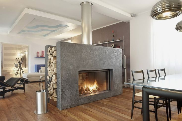 Image result for dual sided log burner   Home fireplace ...