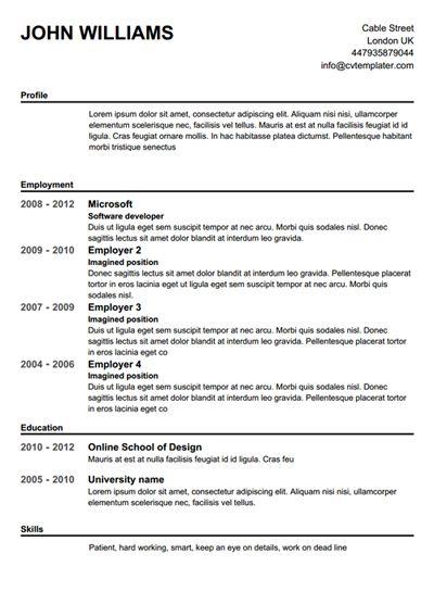 create a resume free templates free resume templates pinterest