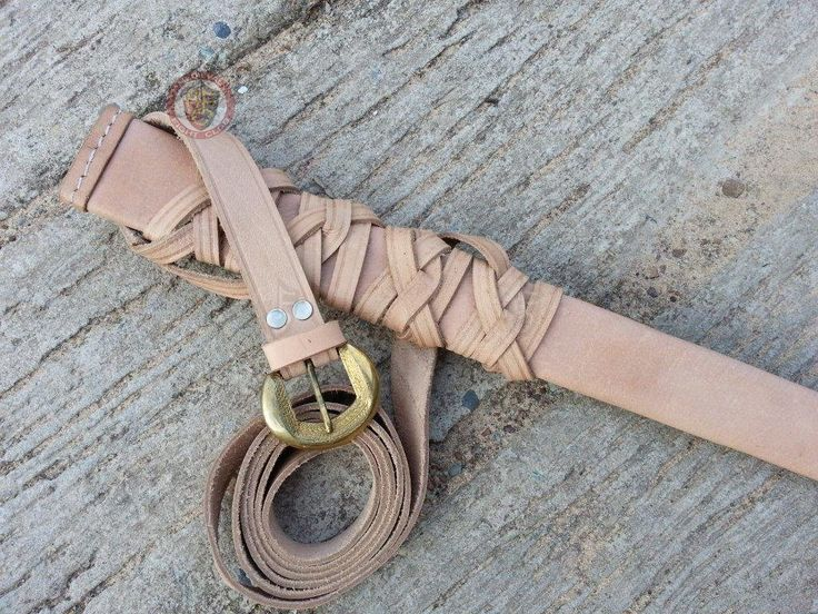 Scabbard & belt - leather with decorated bronze buckle  $104