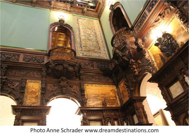 The Honor Hall entranceway Peles Castle Romania