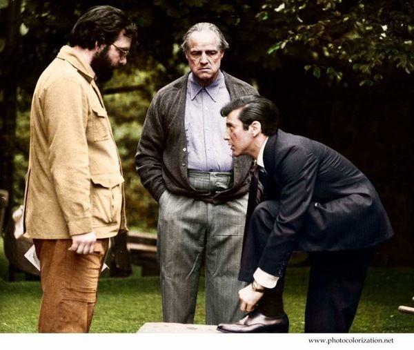 """Моя колоризация. """"Крестный отец"""" Колоризация, крестный отец, Аль Пачино, Марлон Брандо"""