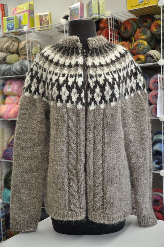 Icelandic/Scandinavian Knitted Sweater by SoleyDesign on Etsy, $190.00