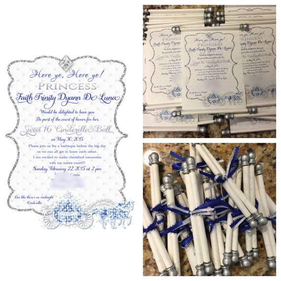 35 best Invites images on Pinterest Scroll invitation Cinderella
