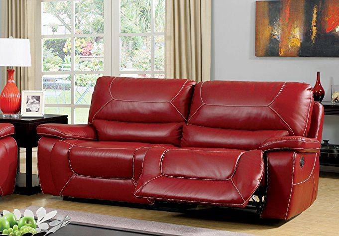 All Leather Recliners Motorized Recliner Red Chair Tan Microfiber With Ottoman High Back Electric