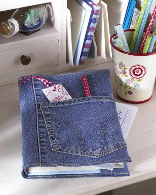 Buchumschlag aus alter Jeans