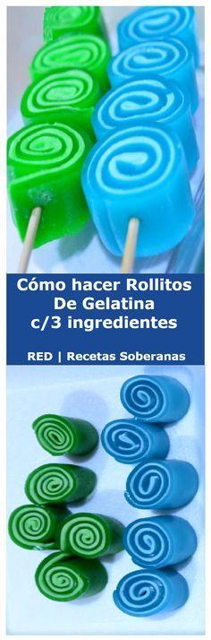 """Cómo hacer ROLLITOS DE GELATINA c/3 ingredientes. #comohacer #rollitos #sabores #postres #gelato #gelatina #receta #recipe #nestlecocina Les comparto una gelatina que a la mayoria le encanta pero no sabe como se hace … """" Si te gusta dinos HOLA y dale a Me Gusta MIREN …"""