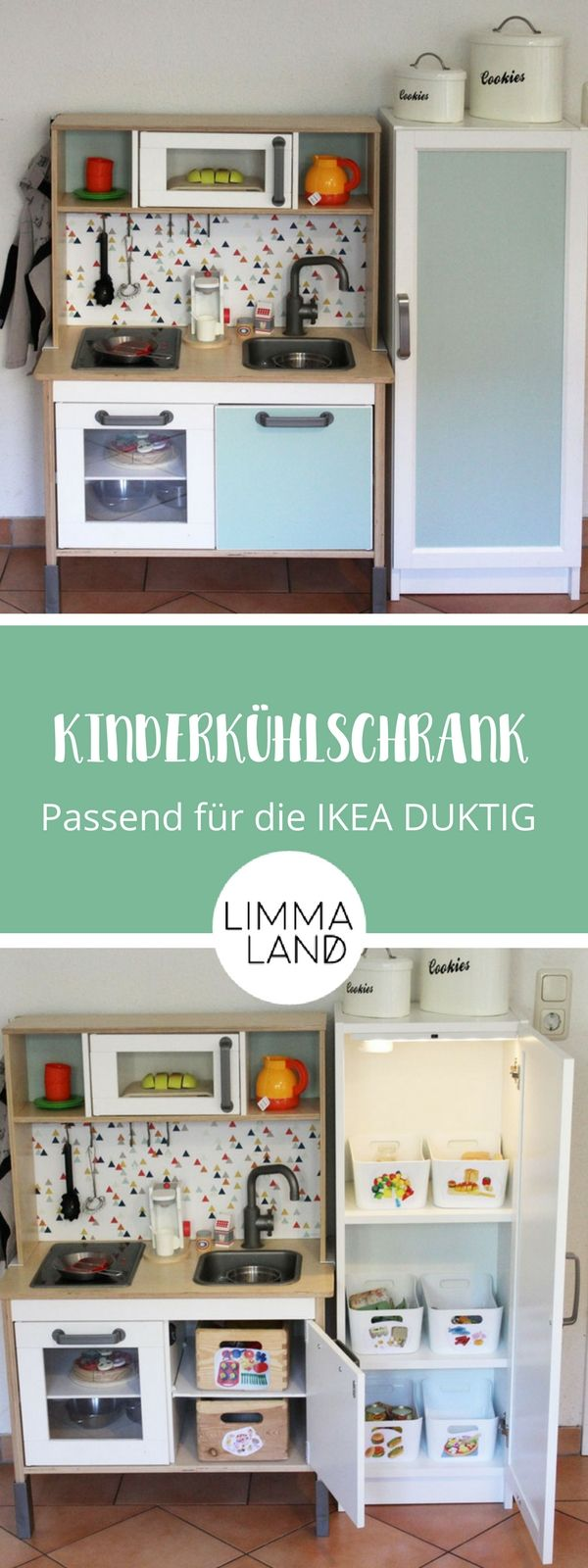 IKEA Kinderkühlschrank selber bauen: Passend zur DUKTIG Kinderküche