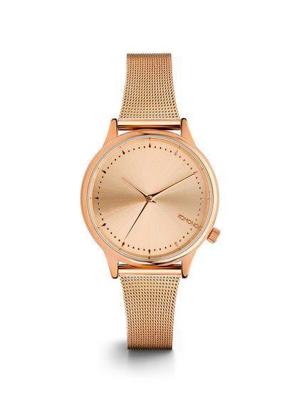 Dámské hodinky v růžovozlaté barvě s kovovým páskem Komono Estelle Royale   2400 kč