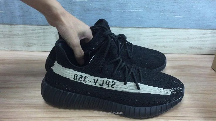 [with box bag foot locker]Yeezy Boost 350 V2 Real Boost Black And White  BY1604