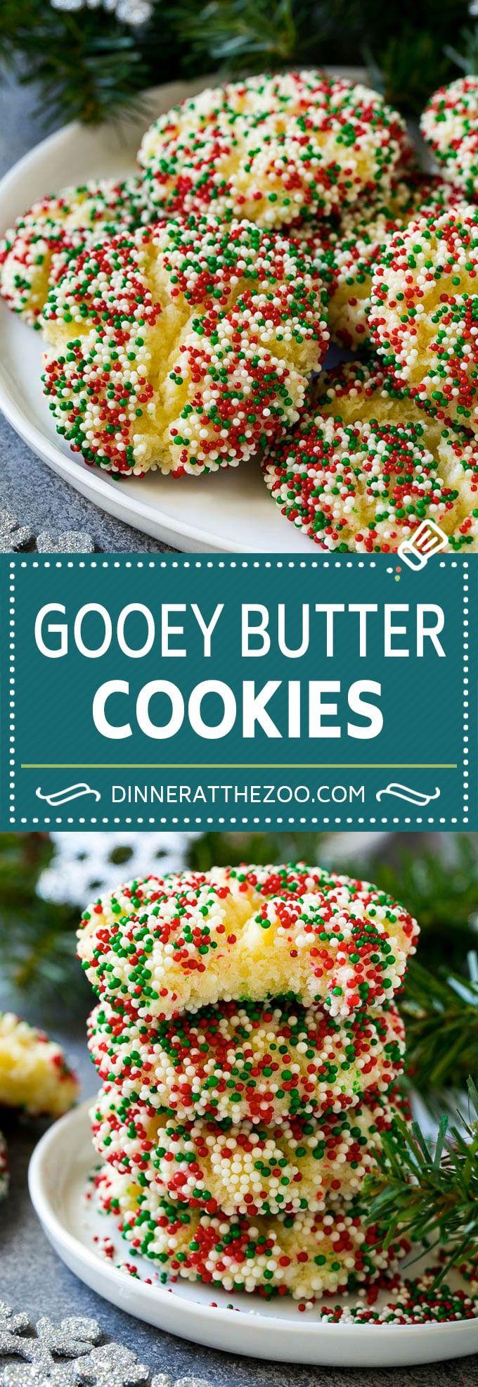 Gooey Butter Cookies Recipe   Cake Mix Cookies   Sprinkle Cookies   Christmas Co…