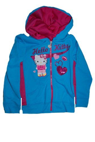 Evy Girls Hello Kitty And Football And Hearts Hooded Sweatshirt  //Price: $ & FREE Shipping //     #sports #sport #active #fit #football #soccer #basketball #ball #gametime   #fun #game #games #crowd #fans #play #playing #player #field #green #grass #score   #goal #action #kick #throw #pass #win #winning
