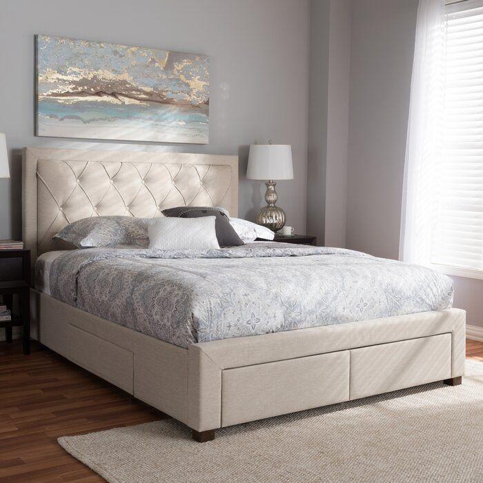 Tantallon Storage Upholstered Platform Bed In 2020 Upholstered Platform Bed Upholstered Storage Bed Lights