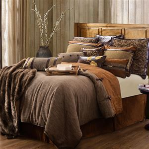 Delectably Yours Highland Lodge Bedding Comforter Set by HiEnd Accents in Twin, Full, Queen and King #DelectablyYours Cabin Lodge Bed and Bath Decor