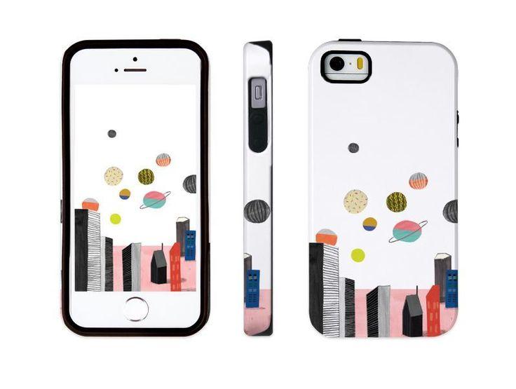 "iphone 5 5s illust designed case, ""planet"" made in korea, hardcase #astep"