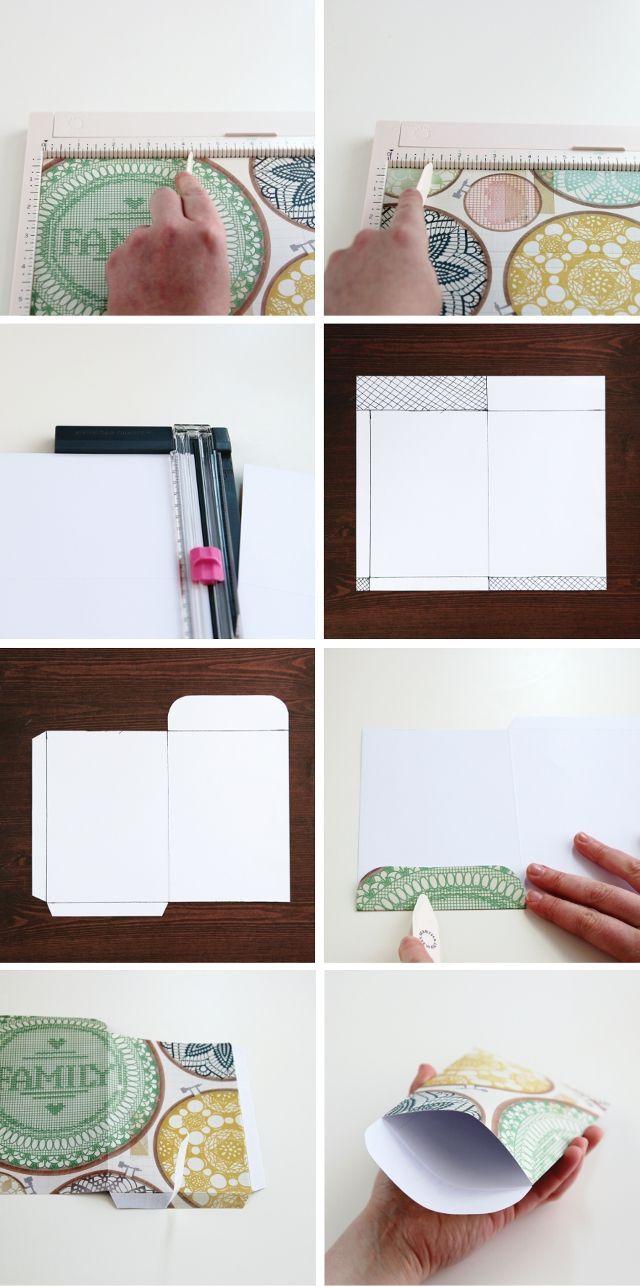 How to make your own Diy Scrapbook Paper Pocket Envelopes.                                                                                                                                                     More
