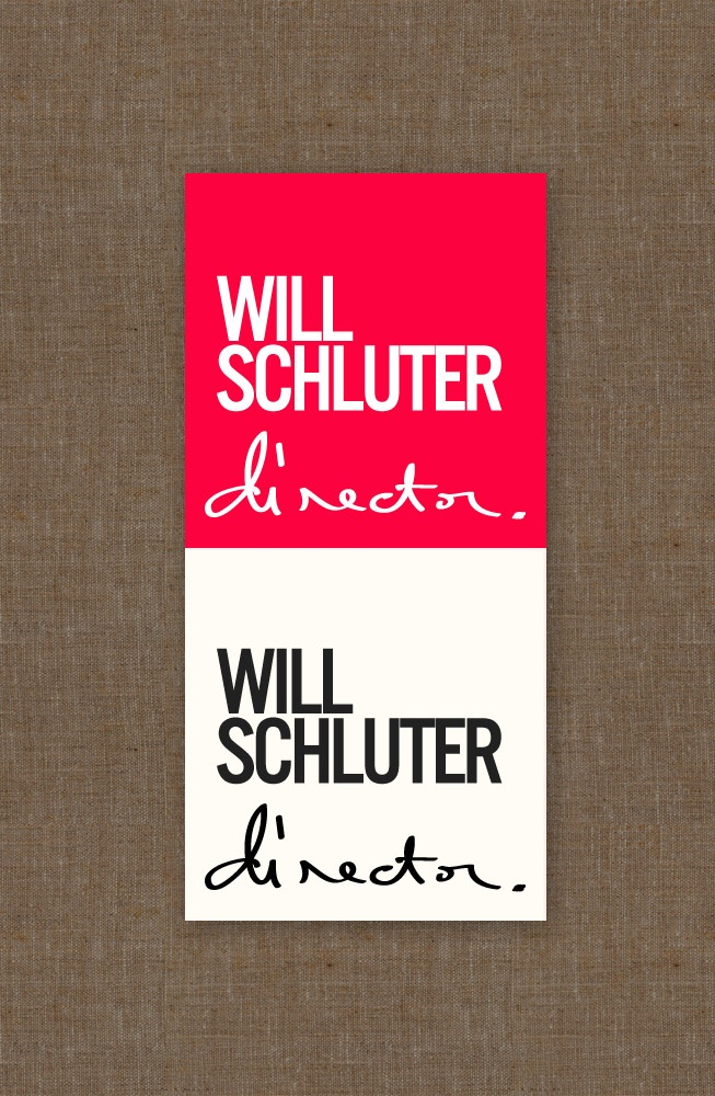 Will Schluter - Film director - logo design