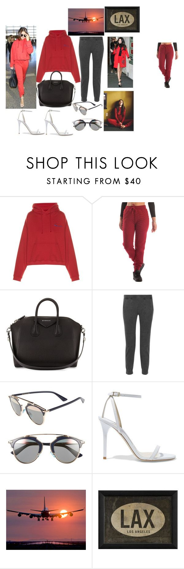 """Selena Gomex airport inspired look"" by itsbrianasanders ❤ liked on Polyvore featuring Vetements, Crooks & Castles, Givenchy, James Perse, Christian Dior, Jimmy Choo and Spicher and Company"